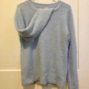Light blue fuzzy sweater Women's size M